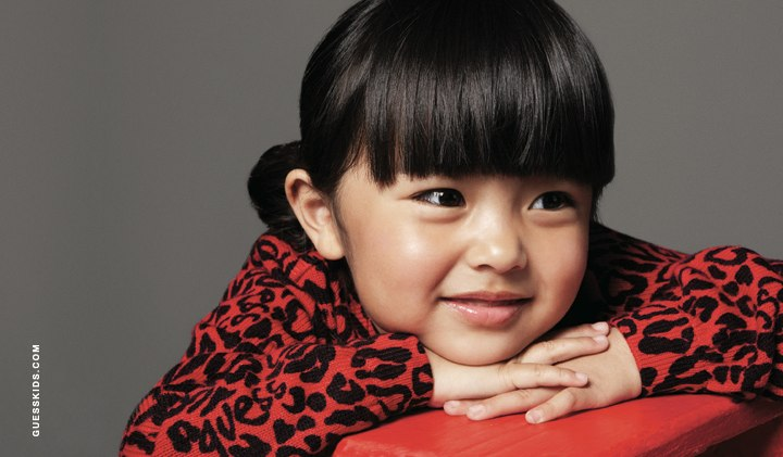 Little Girl Model red Leopard
