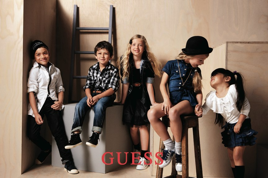Group Kids Posing Ad