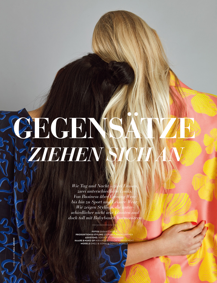 blond brunette mum mutter magazin editorial miriam jochims hair and make-up titel cover editorial colour bunt