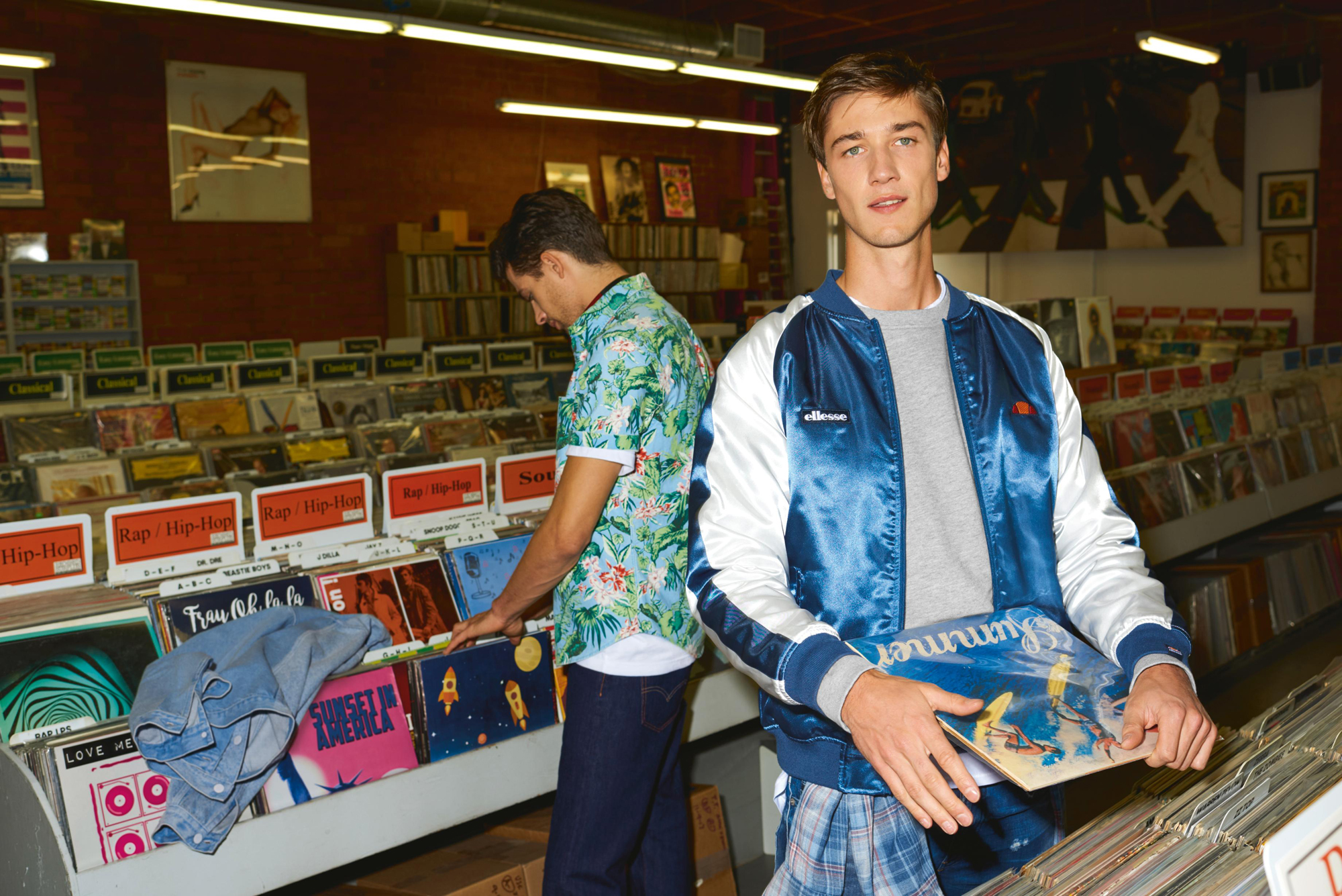 model boys jacket print vinyl shop oldschool