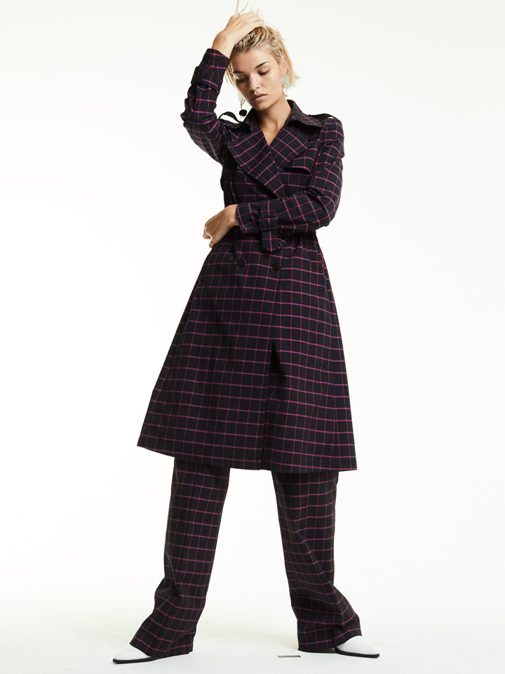 model posing luisa hartmann fall collection coat patterns styles
