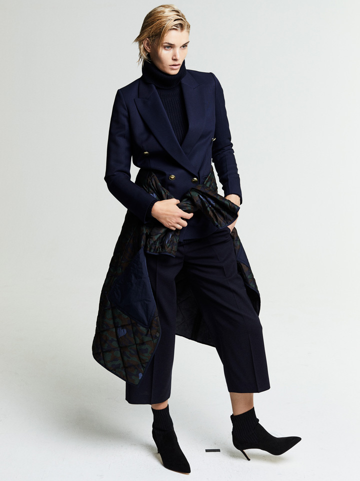 coat fashion fall collection styles dark blue short hair