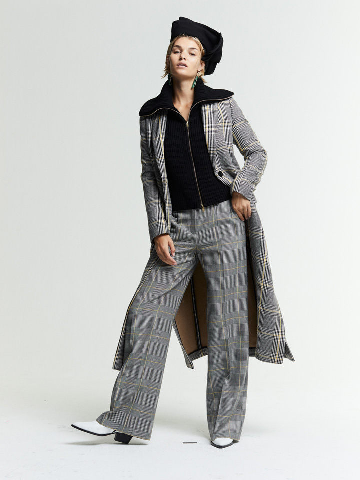 model fashion posing patterns style fall collection pants