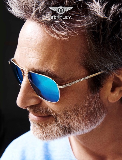 Bentley Eyewear Sonnenbrillen Model Bart Gesicht Portrait