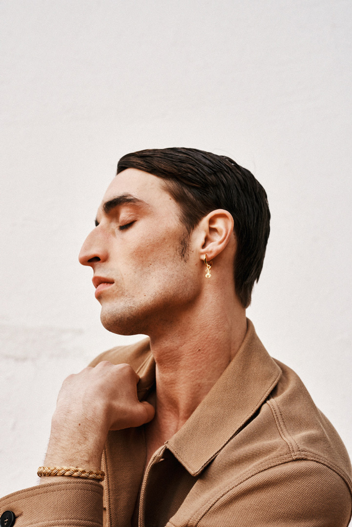 Man with earring