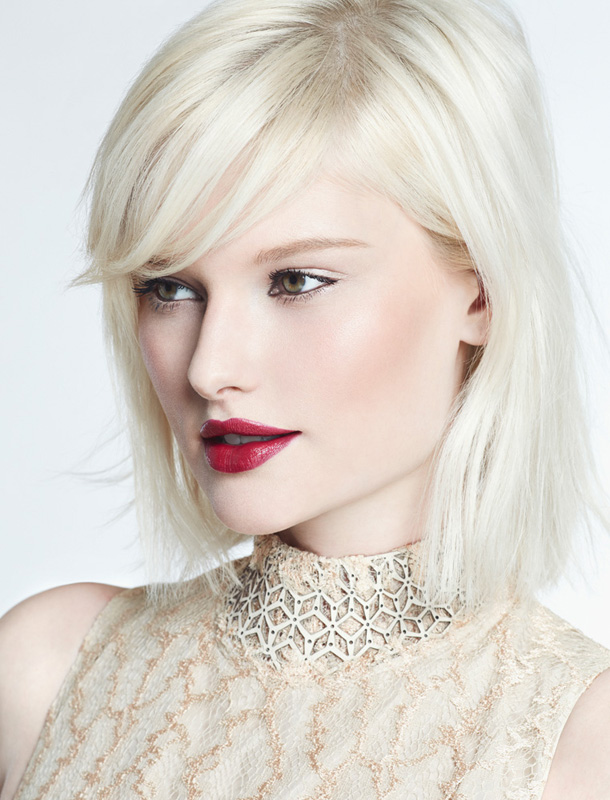 beauty editorial white blond woman