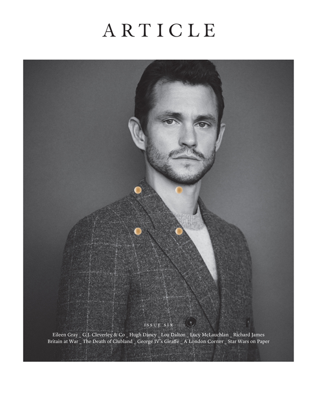 Hugh Dancy Cover for Article in Suite Black White