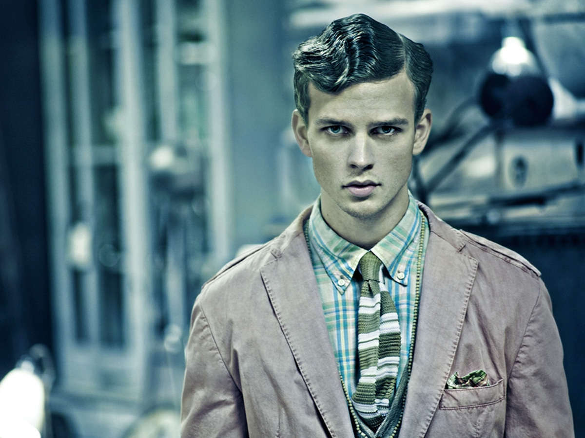 Male Model Vintage Look Outfit