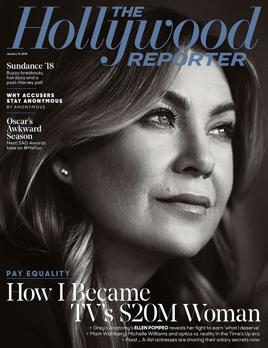 Ellen Pompeo Hollywood reporter magazine portrait face beautiful look