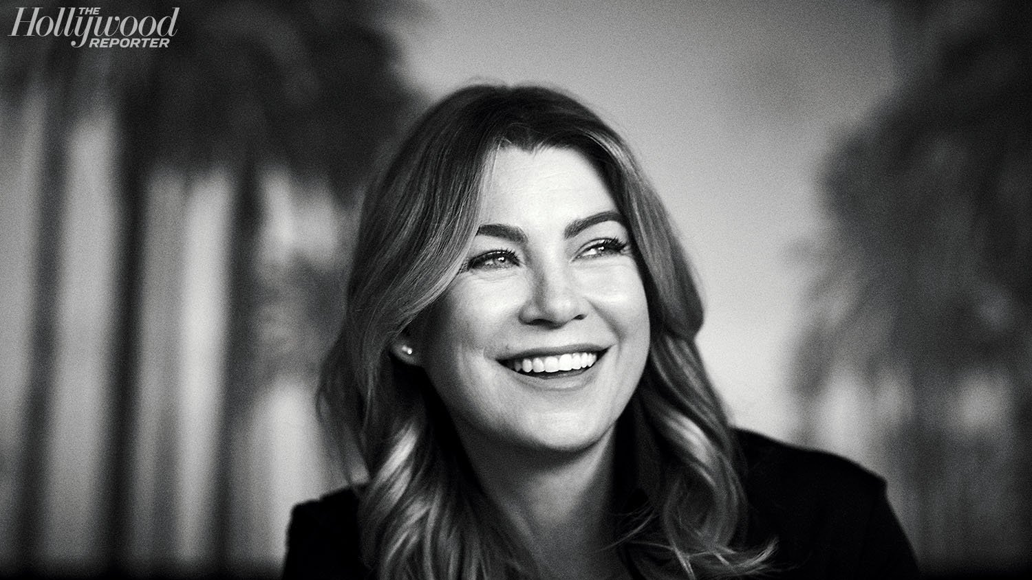 Ellen Pompeo smiling portrait photo blazer hair look