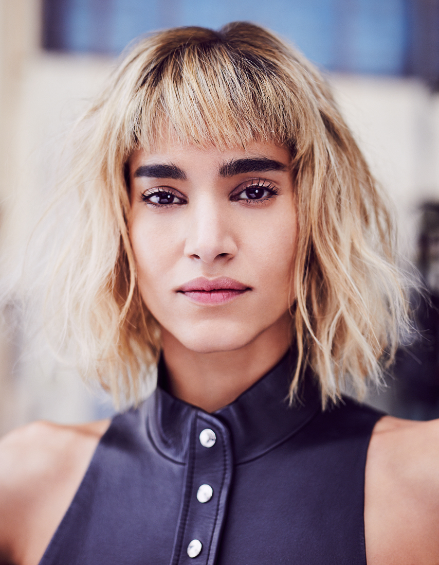 Sofia Boutella Harpers Bazaar Dancer Actress Fashion Portrait Makup eyebrows