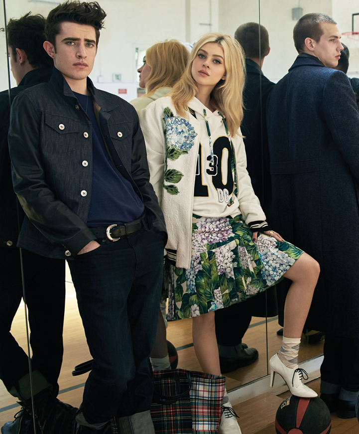 models Nicola Peltz Fashion male models mirror collage jacket jeans