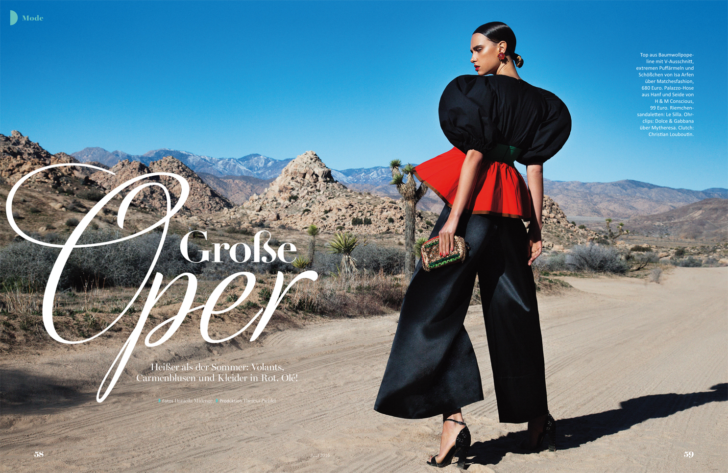desert model senorita fashion look black suit sleek hair