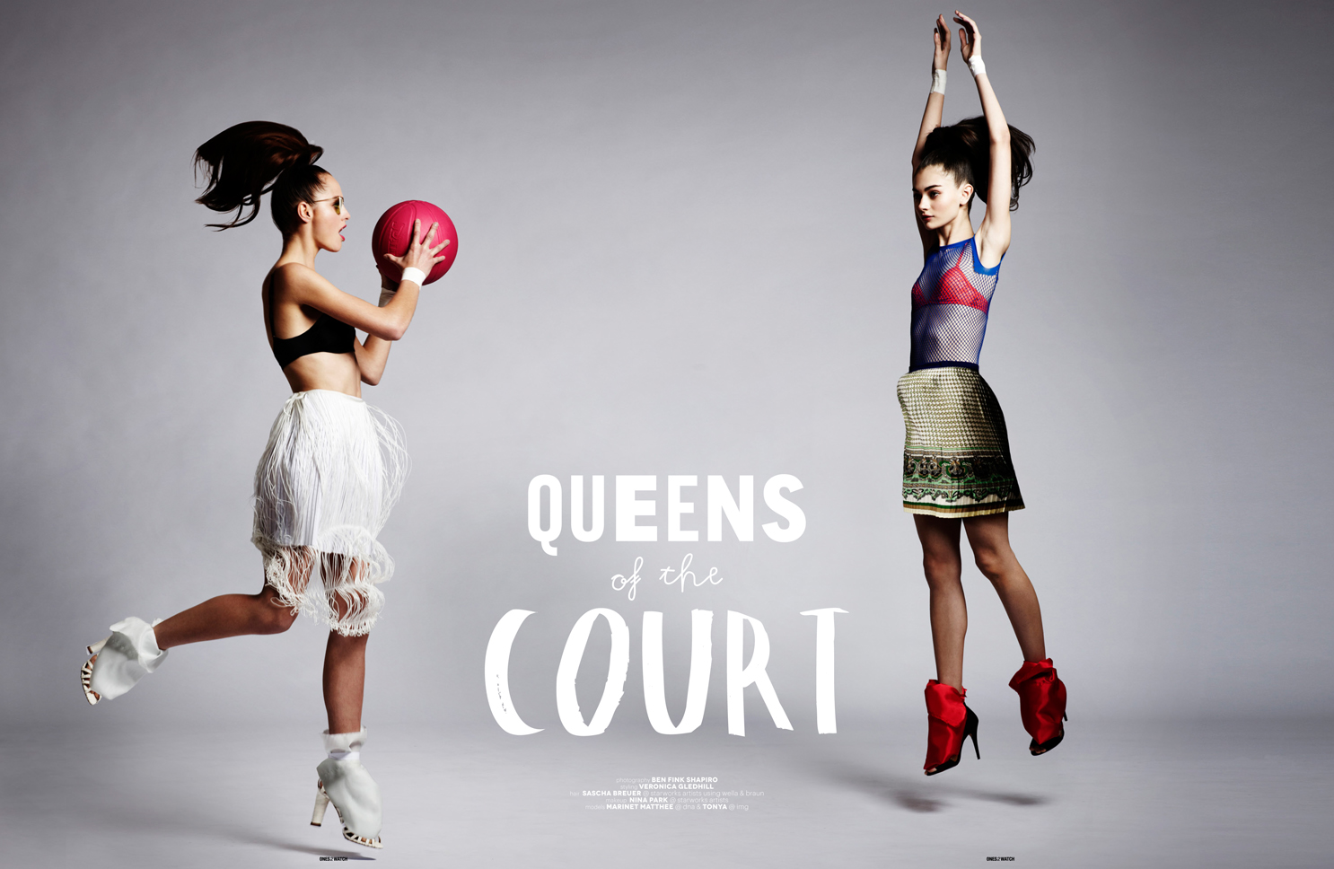 Sporty Spice queens of the court ball skirts models heels