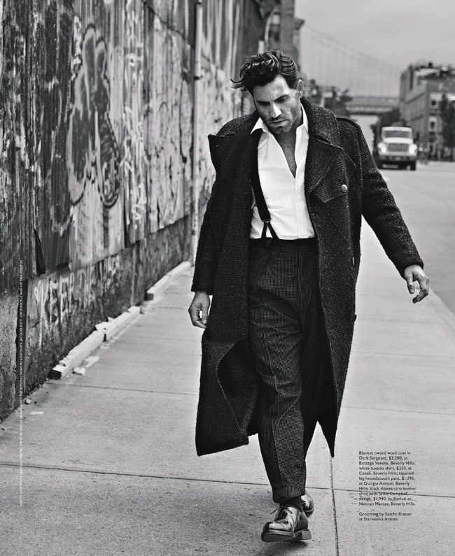 Edgar Ramirez Street Photo fashion coat bridge streetart braces shirt
