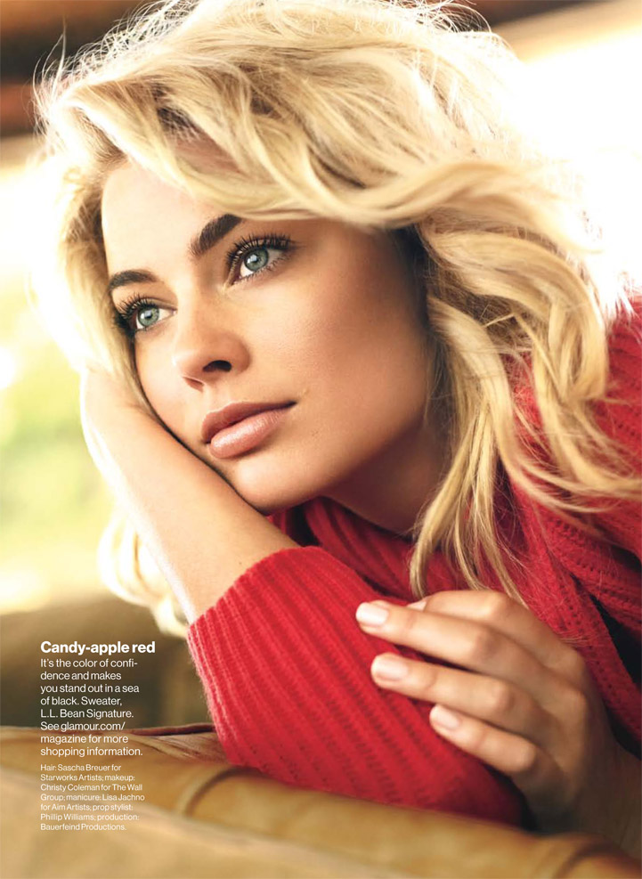 Margot Robbie 50s style hair fashion editorial