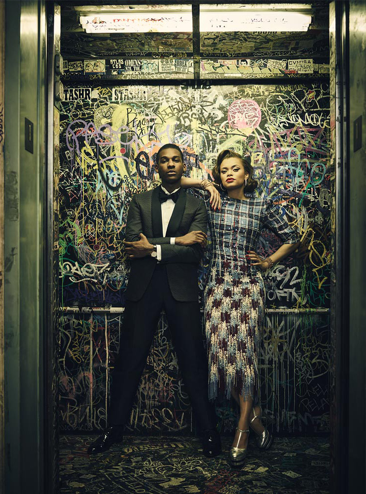 Leon Bridges Andra Day Amoeba Hollywood record Store Grafitty Lights Shadows Suit Dress 50s