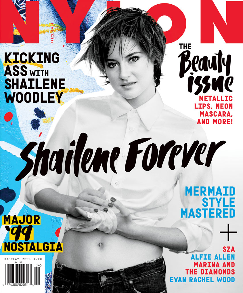 Cover Nylon magazine Shailene Woodley short cut hairstyle