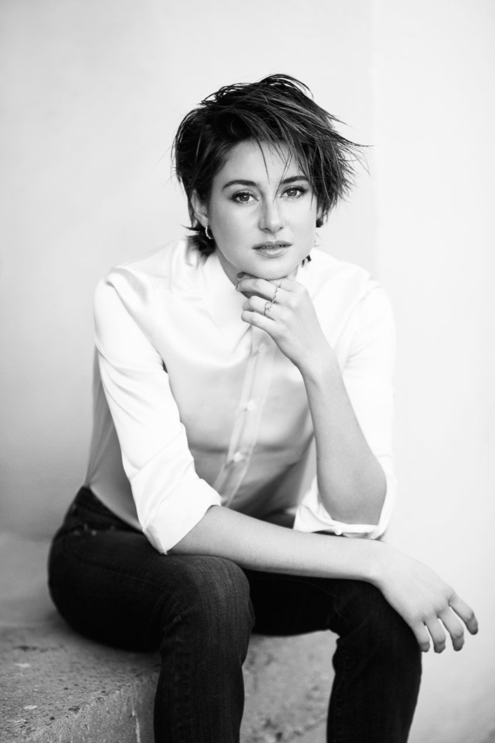 Shailene Woodley portrait actress short hair style