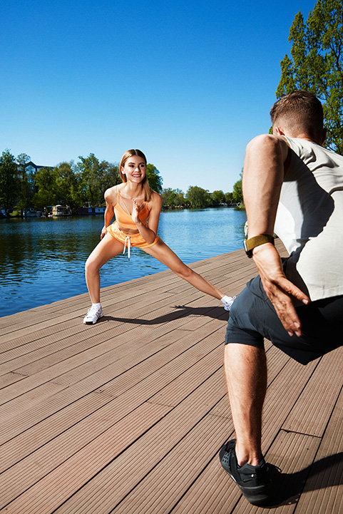 Fitness Sport Active Nature Beige Clothing