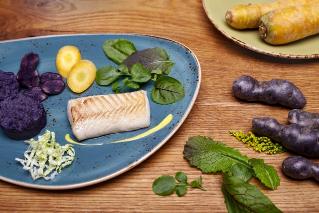 Food Styling Fish Plate Carrot