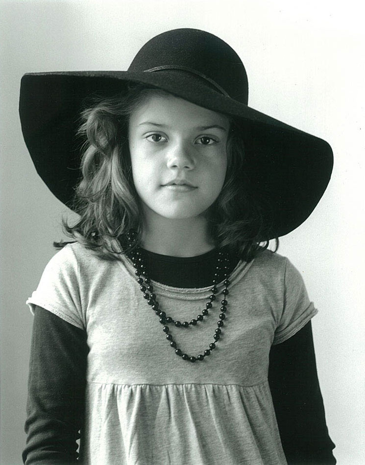 little girl bw hat