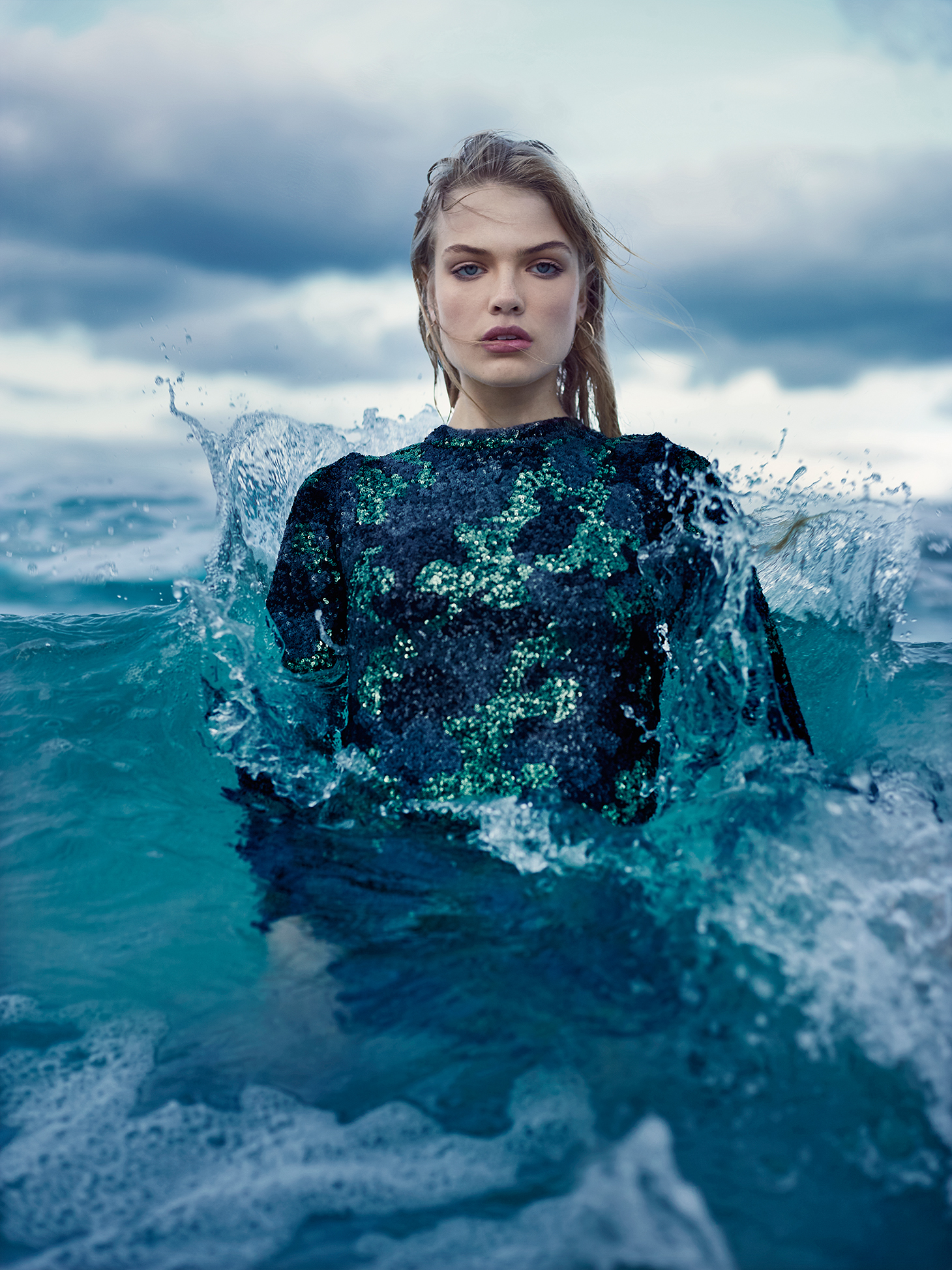 charl marais photographer blue water oceanitaly woman shooting