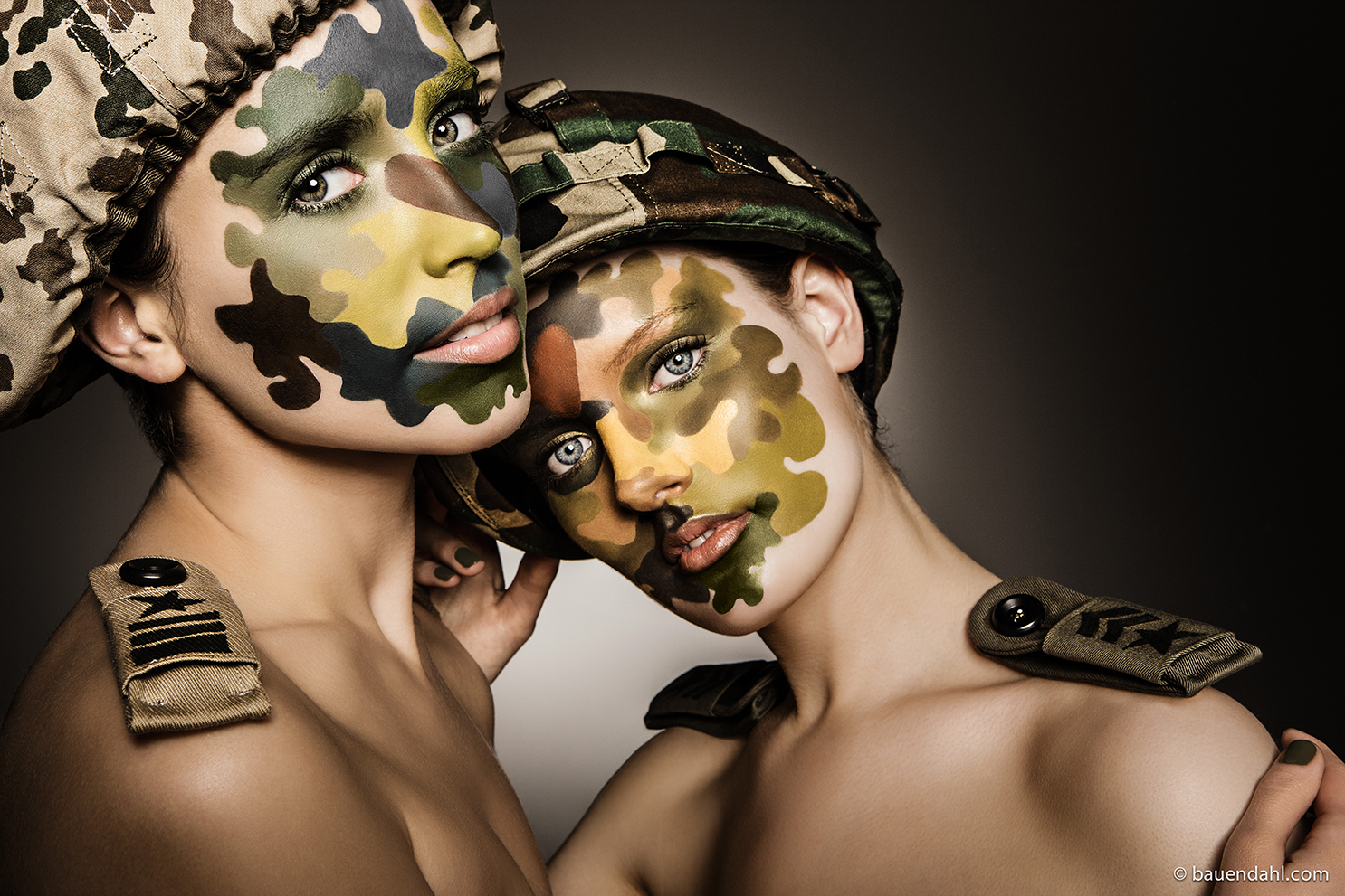 camouflage makeup face