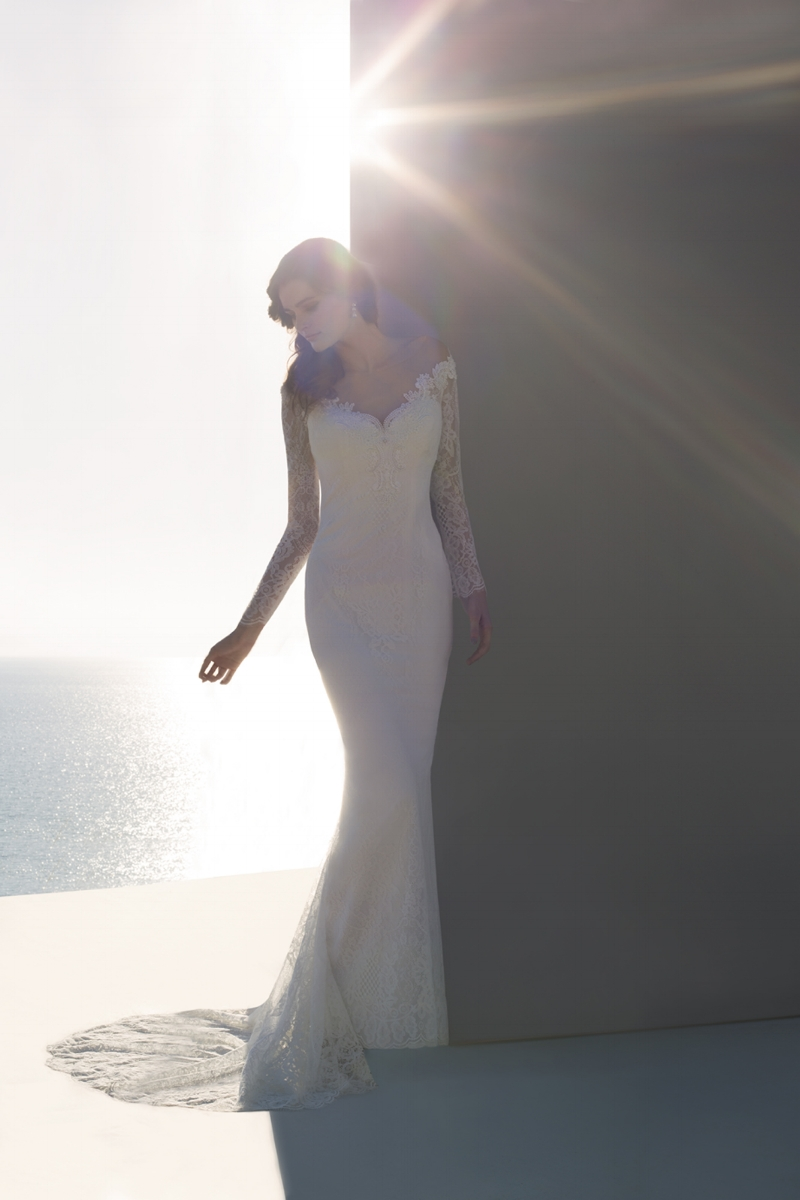 bride beach white ocean grey sun sunshine