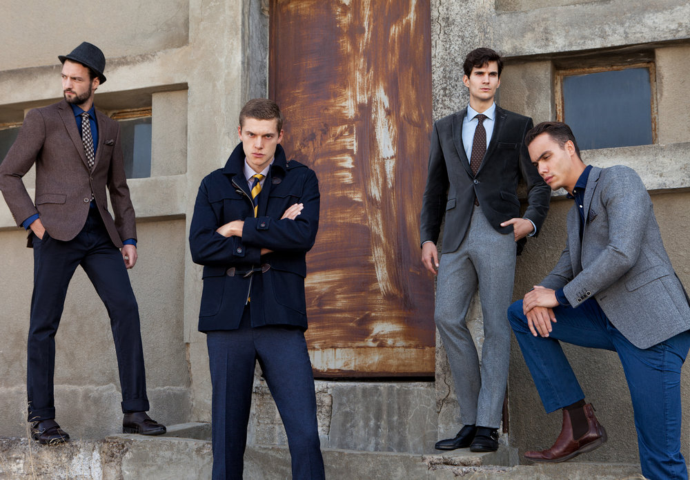men group suit ad campaign
