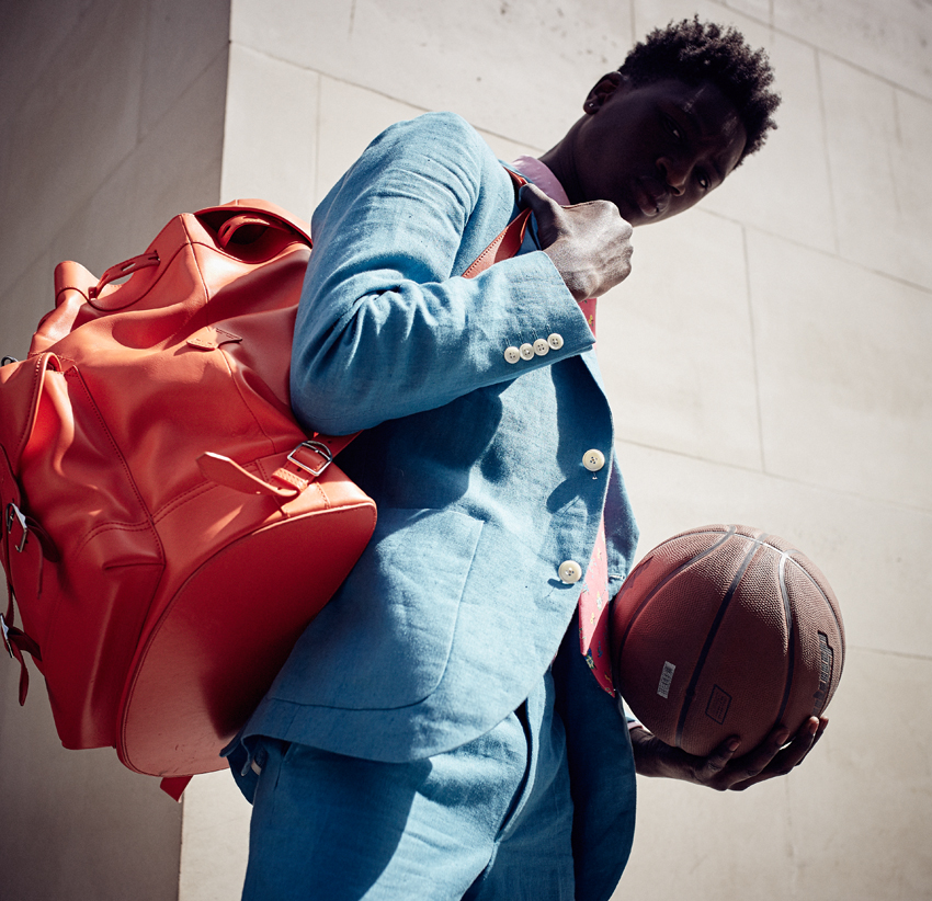 Black Male Model Suit Basketball