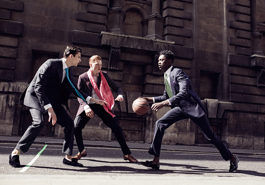 Group Models Basketball Suit