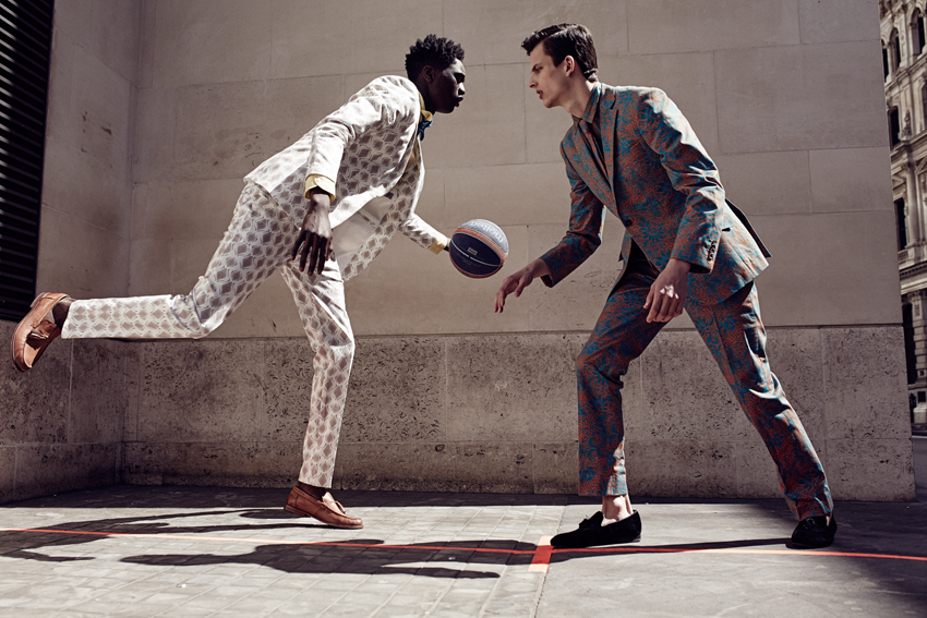Two Models Basketball Suit