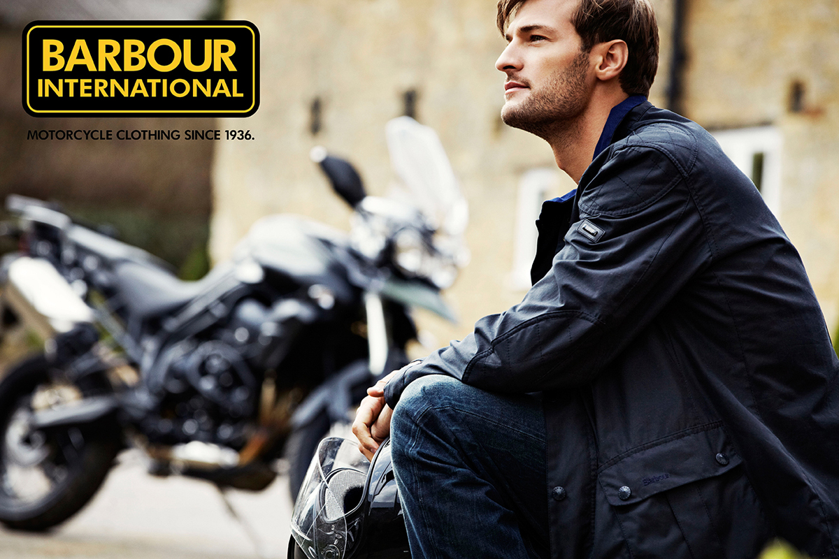 Barbour Motorcycle Fashion Jacket Male Model