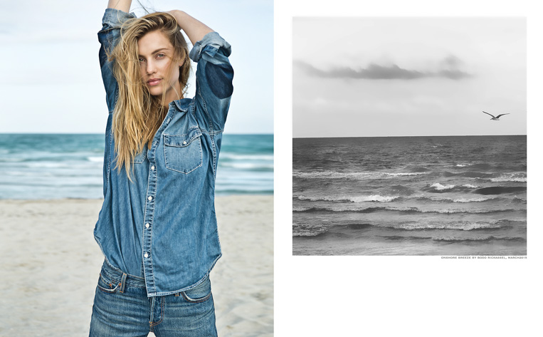 denim blond girl beach wind lifestyle
