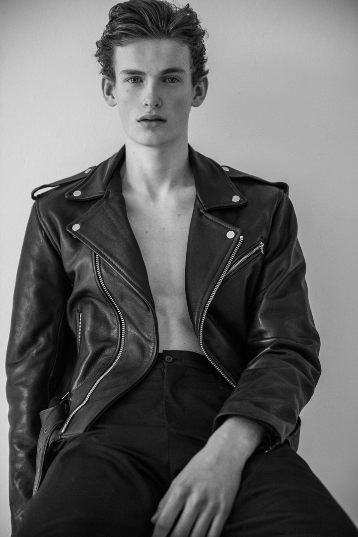 bw boy black leather jacket