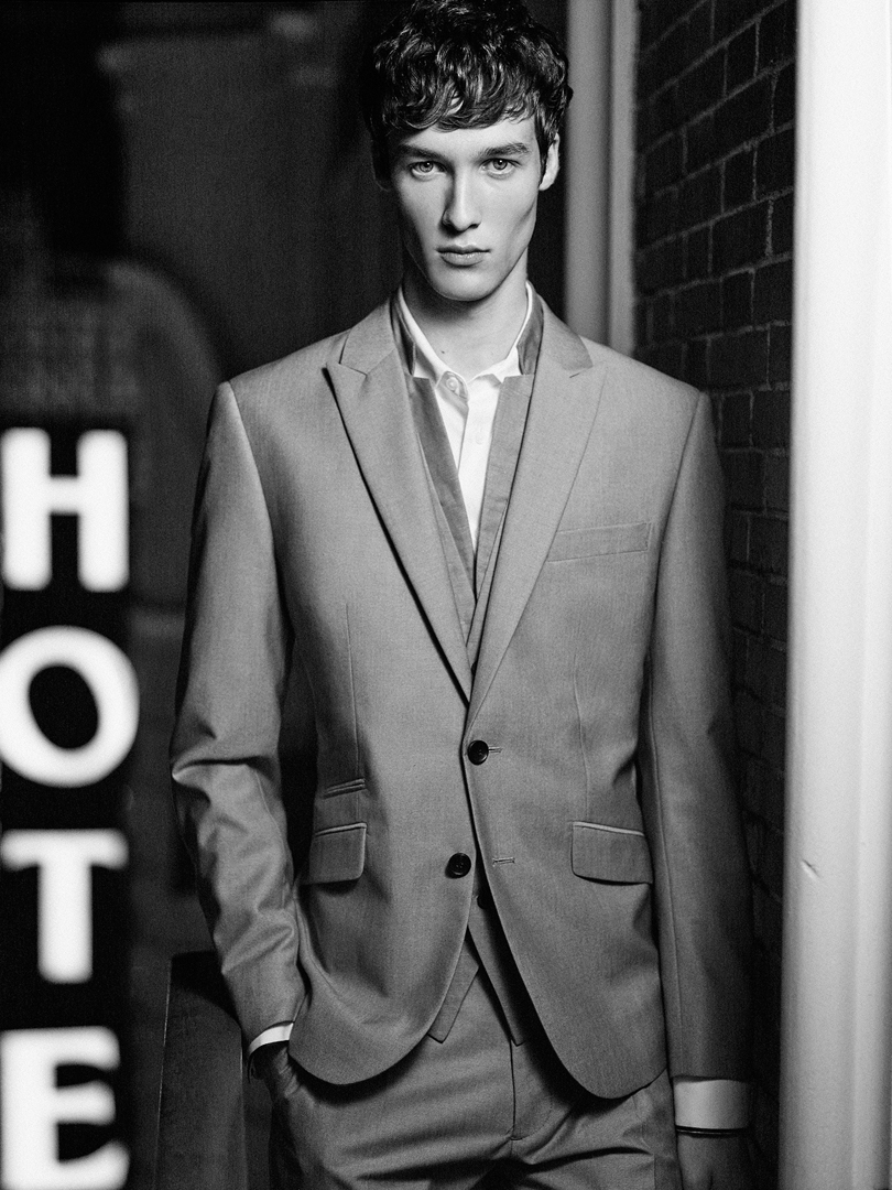 boy hotel bw suit