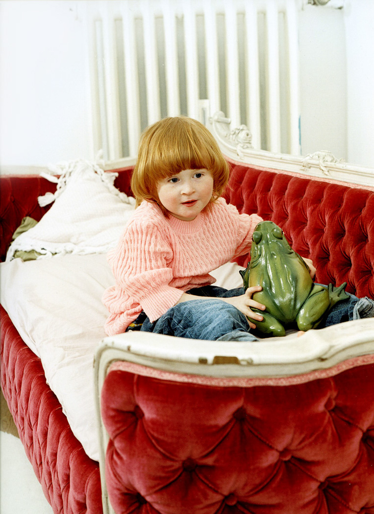 child with red hair