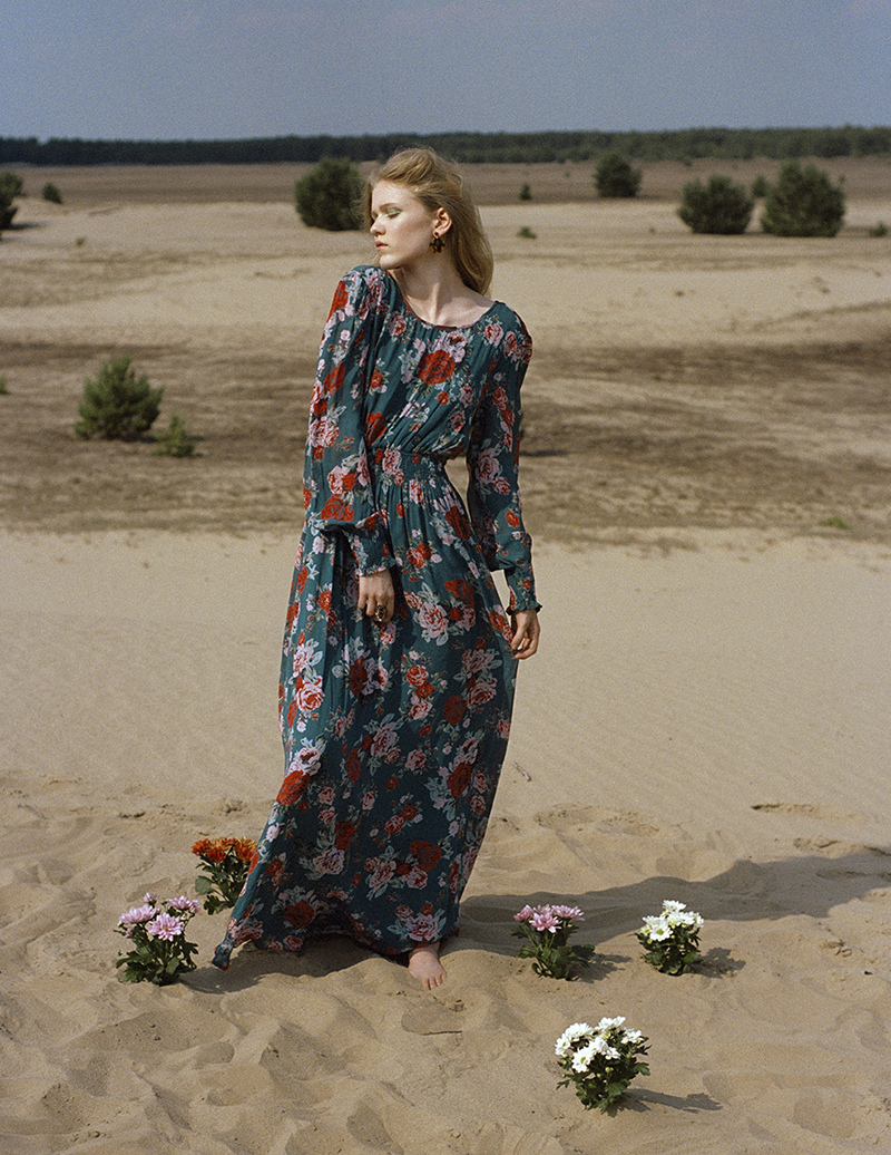 woman desert editorial