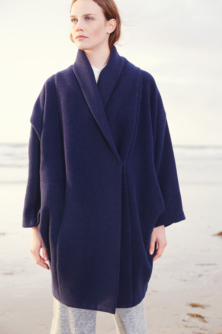 blue coat poncho