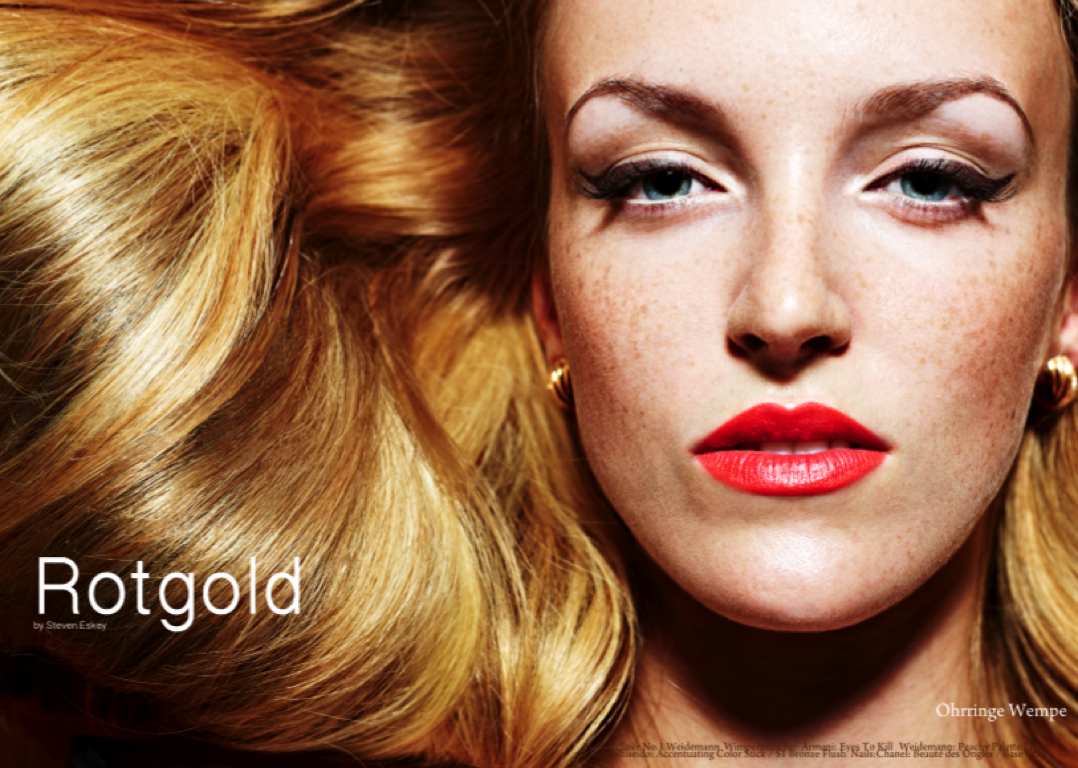 rotgold blond hair