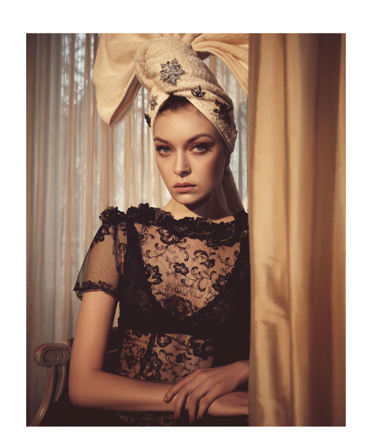 Turban Head Scarf Woman Dress Lace