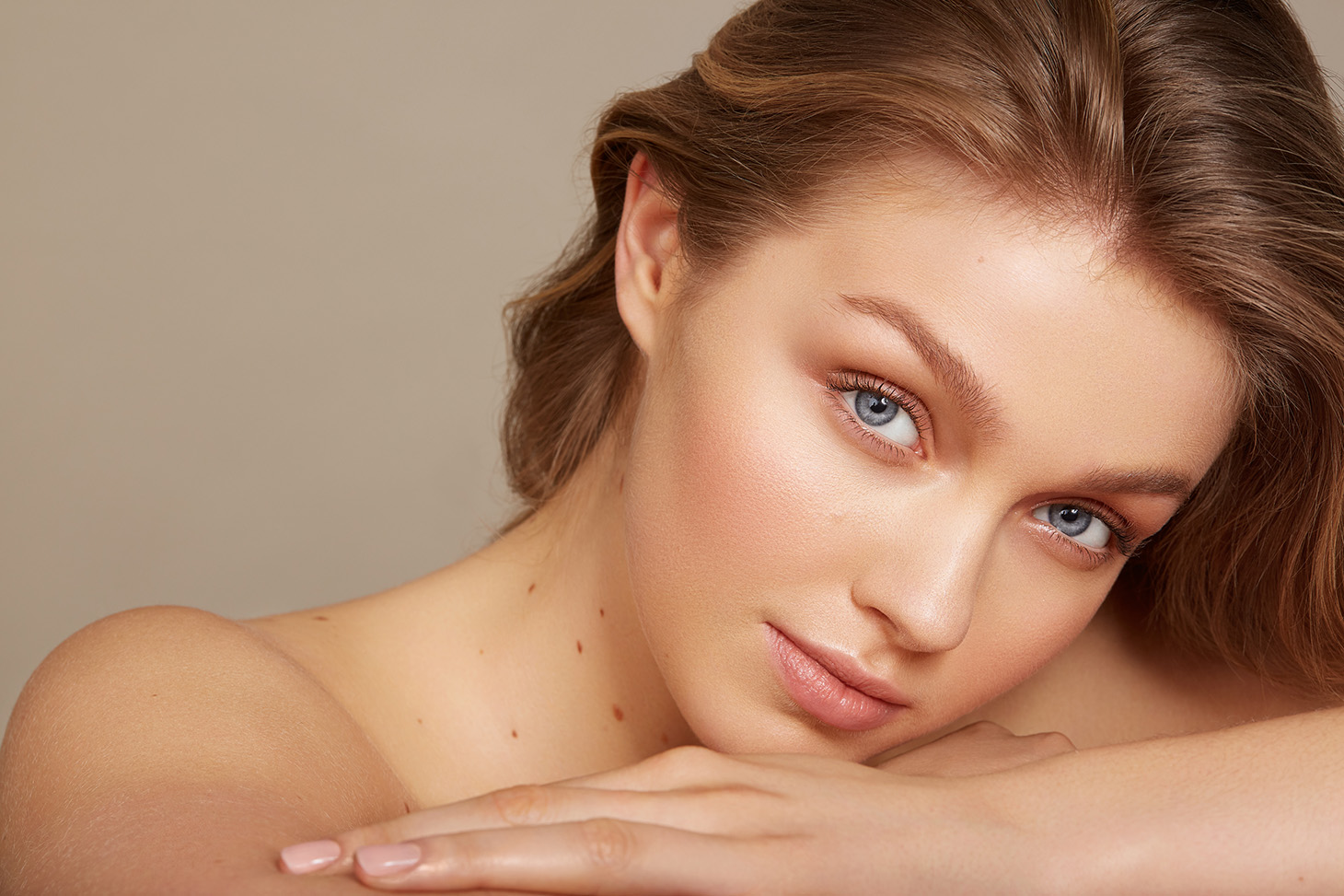 Beauty Makeup Skincare Natural Female Long Brown Hair