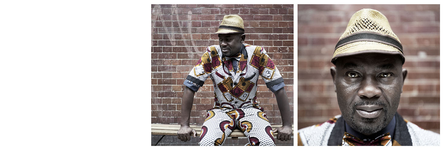 Analogue Portrait Bench African Pattern Shirt Clothes Hat
