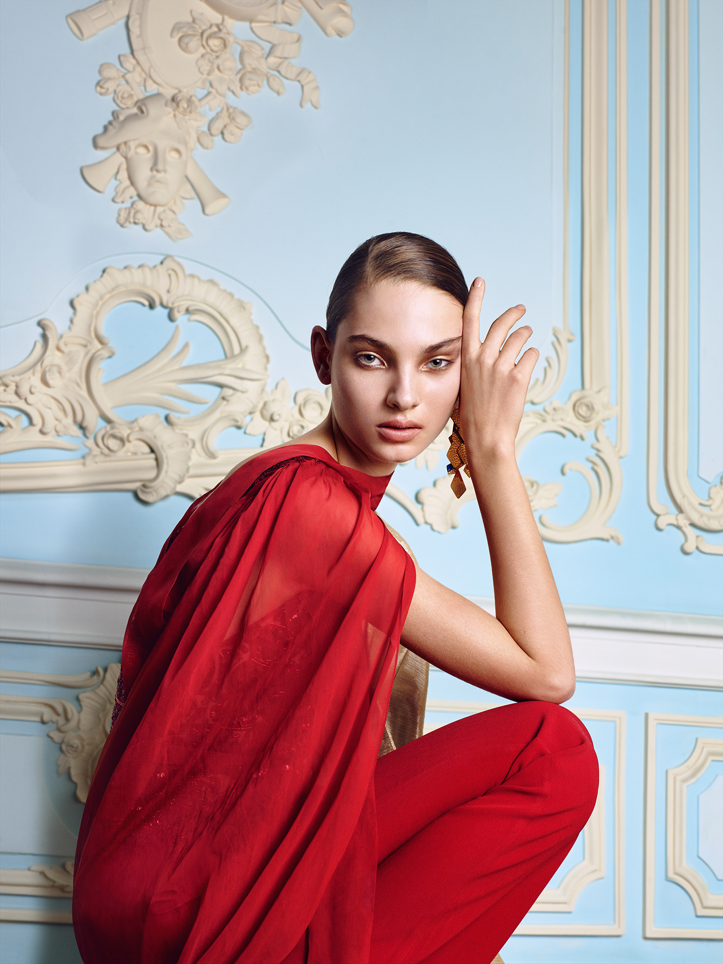 red dress the hermitage pablo patane vogue monteiro
