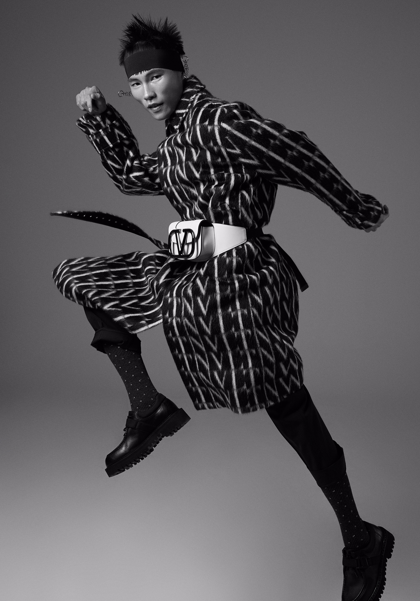 lofficiel hommes italia styling black and white